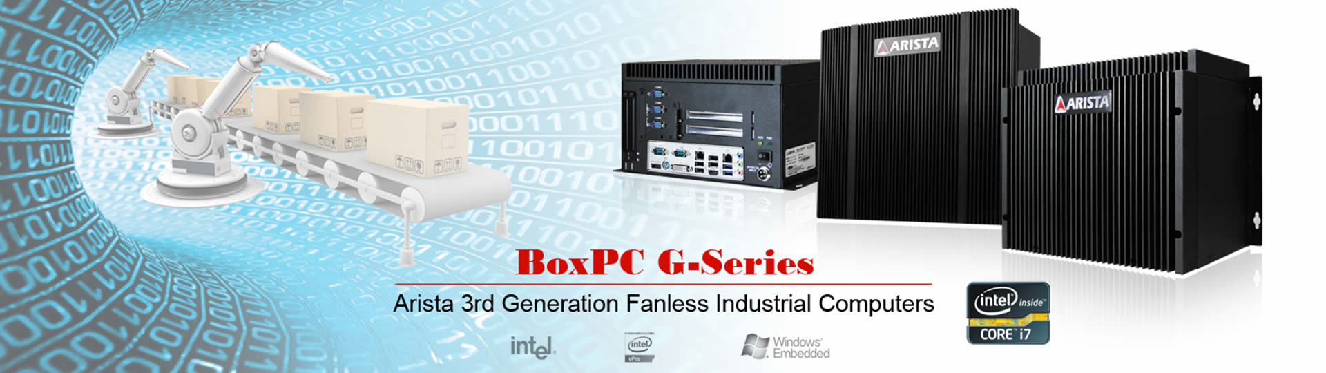 Fanless Industrial Computers BoxPC G-Series